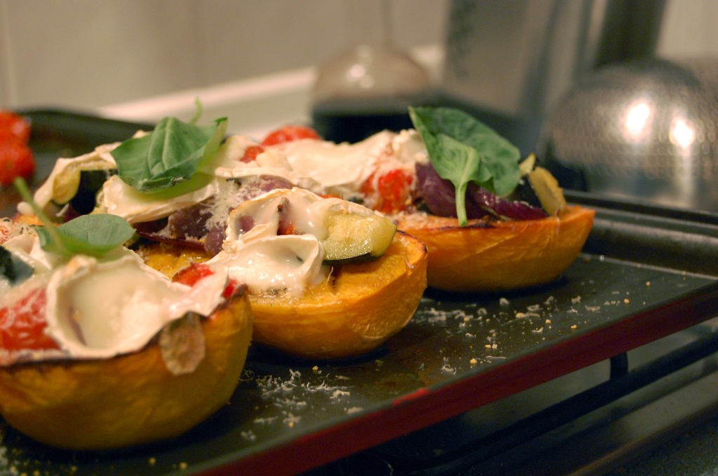 Squash with roasted veg and goats cheese 3