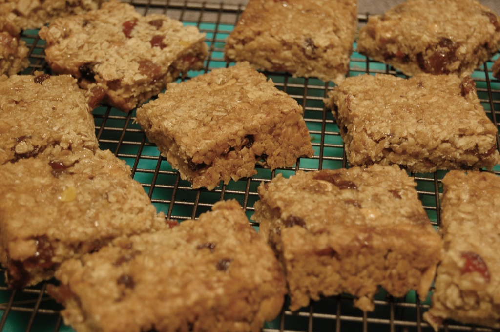 Fruit and nut flapjacks 1